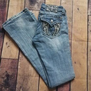 Miss Me   Signature Boot Angel Wing Jeans Size 24